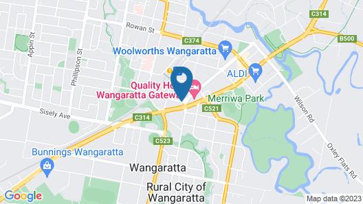 Wangaratta Motor Inn Map