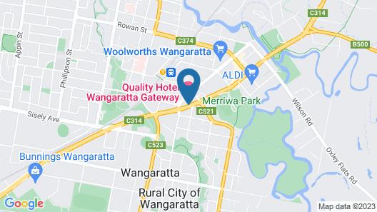 Quality Hotel Wangaratta Gateway Map