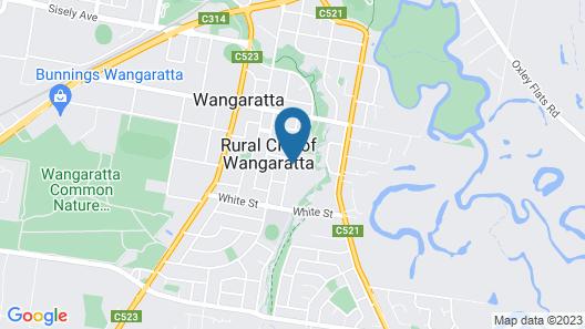 Amaroo Arte House Wangaratta Map