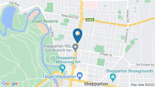 Wyndhamere Motel Shepparton Map