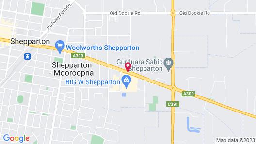 Overlander Hotel/motel Shepparton Map