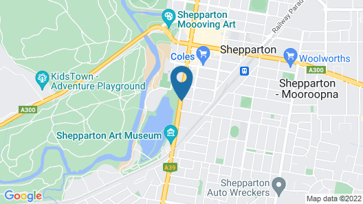 Quality Hotel Parklake Shepparton Map
