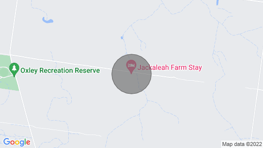 Jackaleah Farm Stay Oxley Map