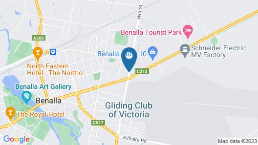 Glider City Motel Benalla Map