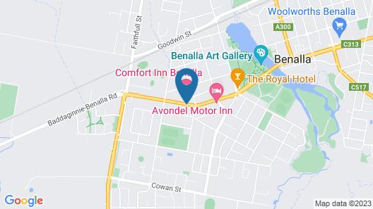 Comfort Inn Benalla Map