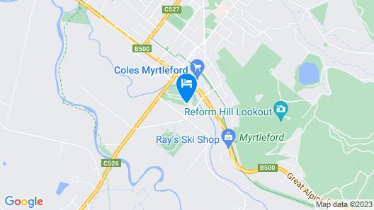 Myrtleford Holiday Park Map