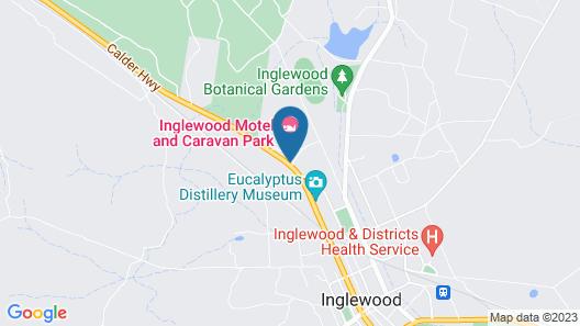 Inglewood Motel and Caravan Park Map