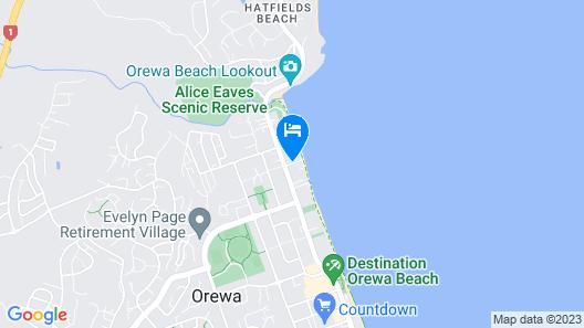 Orewa Beachside Map
