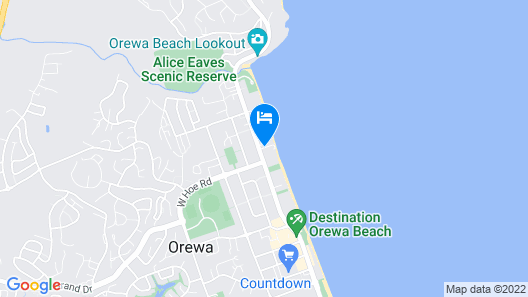Waves Motel Map