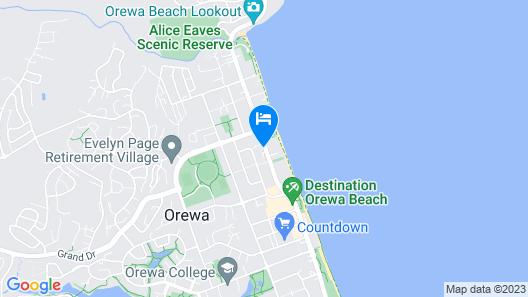 Orewa Pillows Lodge Map