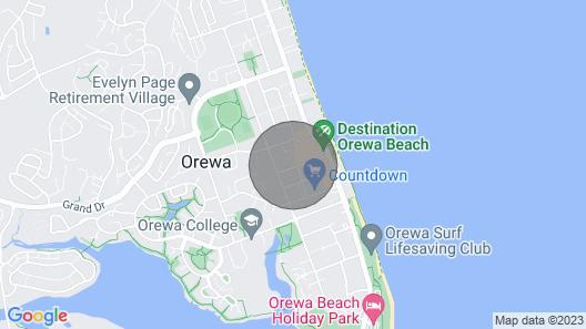 Orewa Kiwi Cabins - Kea Map