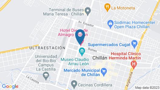 Hotel Diego de Almagro Chillán Map