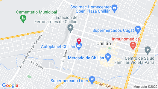 Hotel Ventura Chillan Map