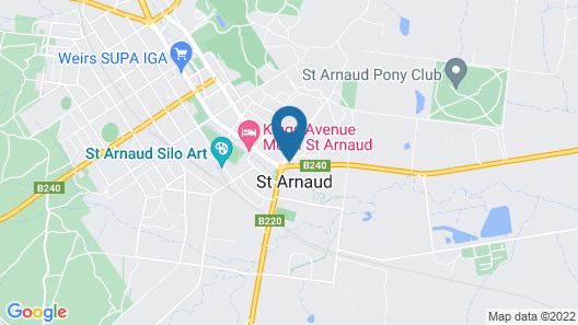 St Arnaud Country Road Motel Map