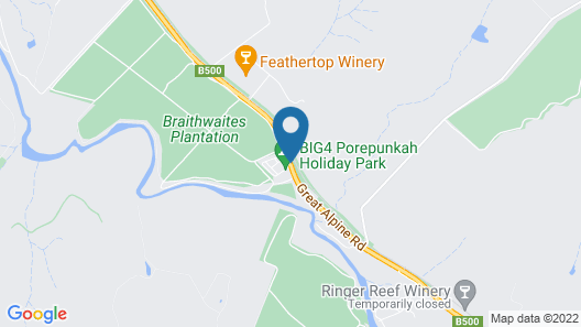 Big4 Porepunkah Holiday Park Map