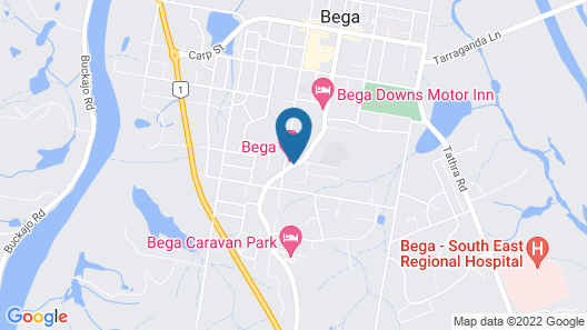 Bega Motel Map