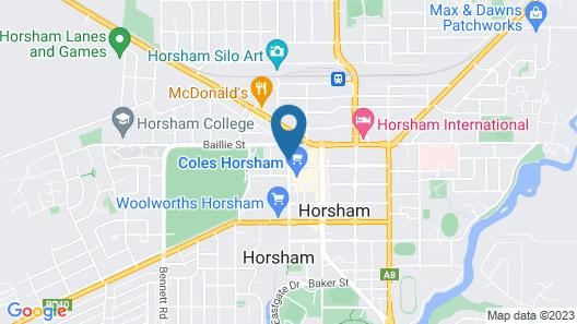 Horsham Mid City Court Motel Map