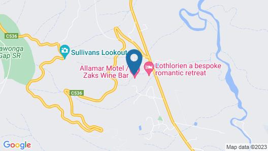 Allamar Motor Inn Motel Map