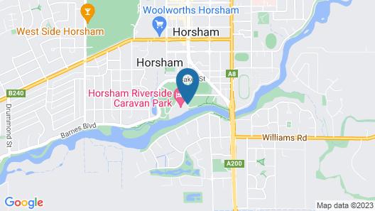 Horsham Riverside Caravan Park Map