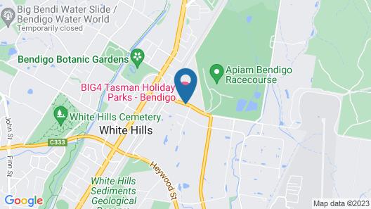 Big4 Bendigo Ascot Holiday Park Map