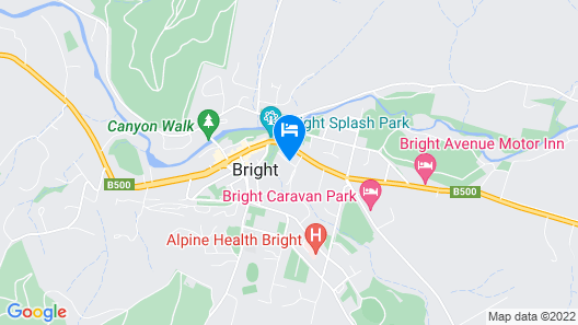 NRMA Bright Holiday Park Map