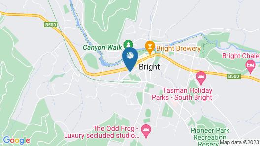 Barrass's John Bright Motor Inn Map