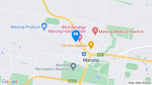 BIG4 Bendigo Marong Holiday Park Map
