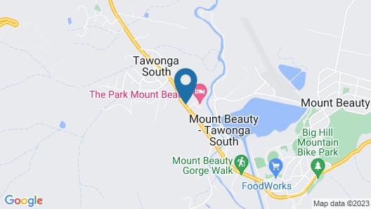Eco Villa Mt. Beauty - near Falls Creek & Bright Map