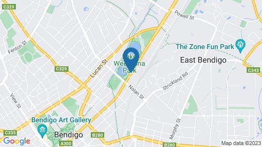 Tea House Motor Inn Map