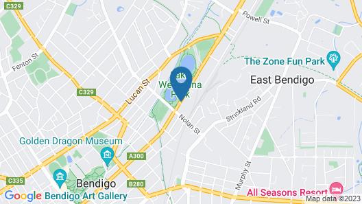 Julie-Anna Inn, Bendigo Map
