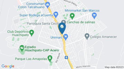 Hotel Terrasur Talcahuano Map