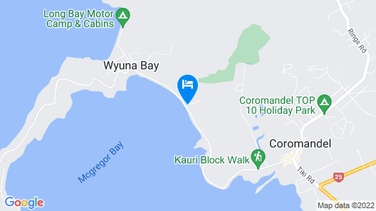 Harbour View Motel Coromandel Map