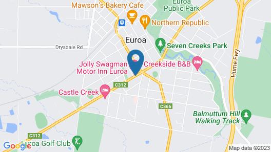 Jolly Swagman Motor Inn Euroa Map