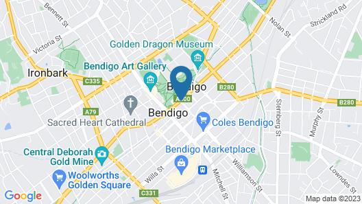 Hotel Shamrock Bendigo Map