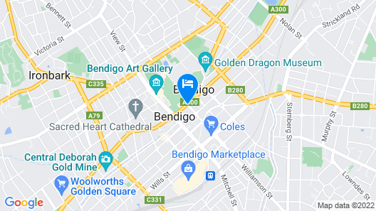 Hotel Shamrock Bendigo Map