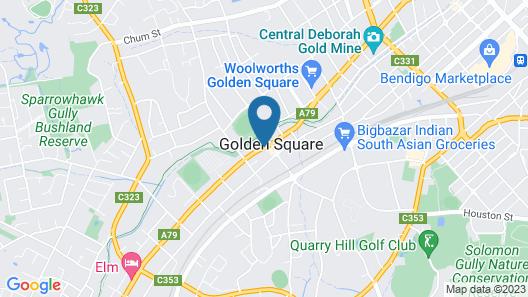 Bendigo Goldfields Motor Inn Map