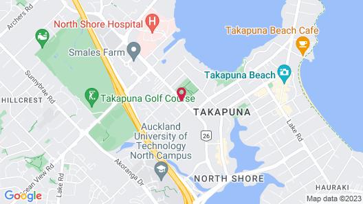 Takapuna Motor Lodge Map