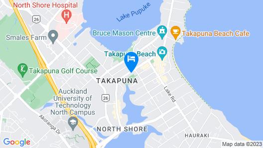 Takapuna Contemporary 2BR w/Carpark Map