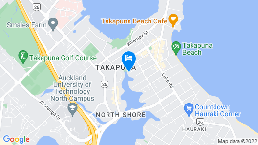 Takapuna Central Spacious & New Home 3 Map