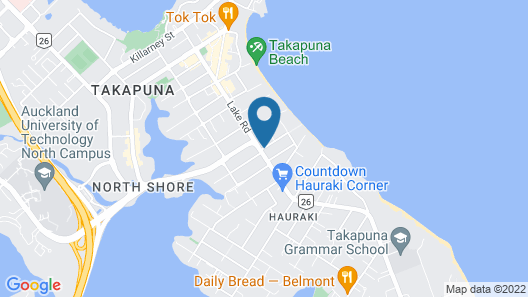 Parklane Motor Inn Takapuna Beach Map