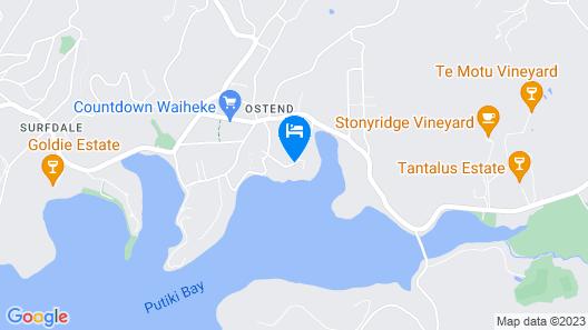 Le Chalet Waiheke Apartments Map