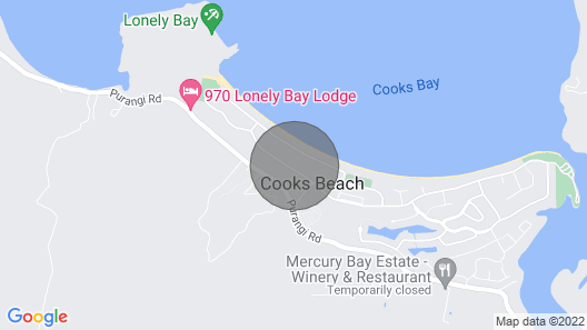 Cosy at Cooks - Cooks Beach Downstairs Holiday Unit Map