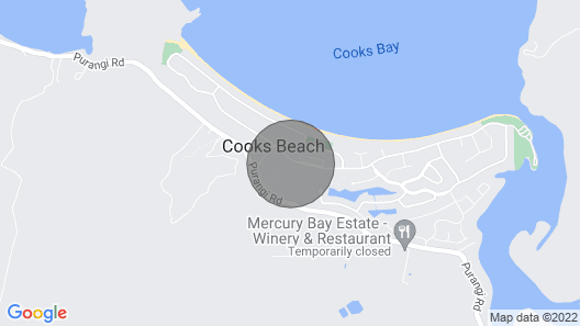 Kiwi Bach at Cooks - Cooks Beach Holiday Home Map