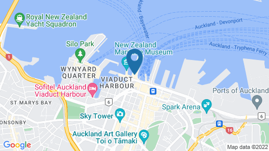 Hilton Auckland Map