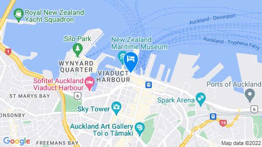 Auckland Waterfront Serviced Apartments on Prince's Wharf Map