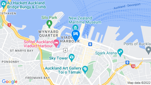 The Sebel Auckland Viaduct Harbour Map