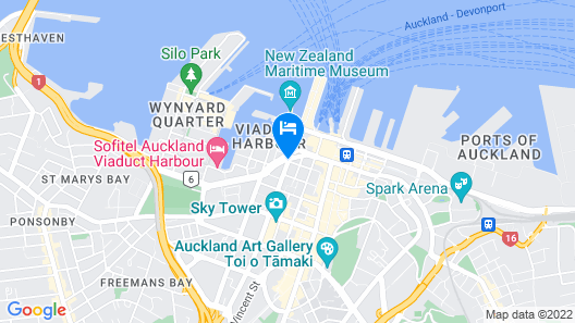 Hotel Grand Chancellor Auckland City Map