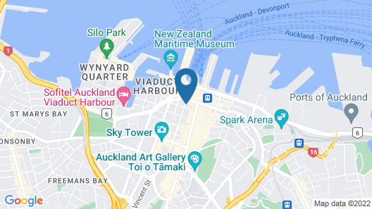 The Sebel Quay West Auckland Map