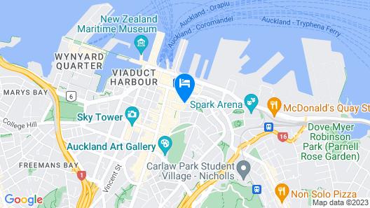 Auckland Harbour Suites Map