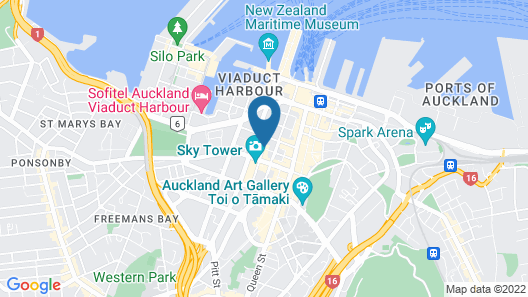 Rydges Auckland Map